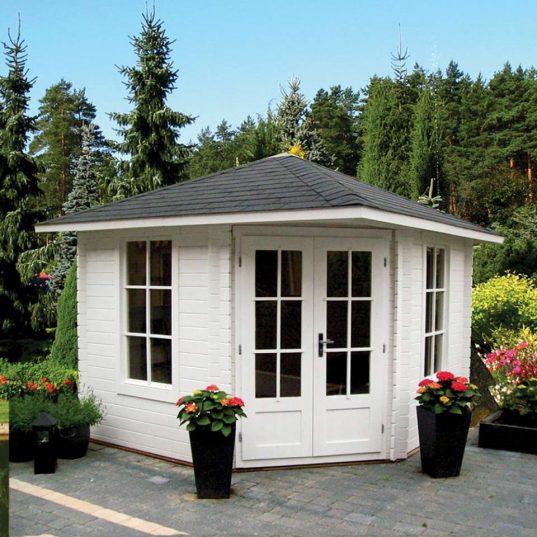 5 Eck Gartenhaus Norwegen 17