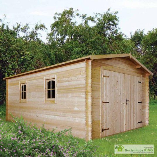 Holzgarage Schweden-32 online kaufen Holz von Gartenhaus-king.de