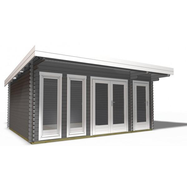 40 mm gartenhaus york 16 510 x 390 holz ger tehaus blockhaus schuppen pultdach ebay. Black Bedroom Furniture Sets. Home Design Ideas