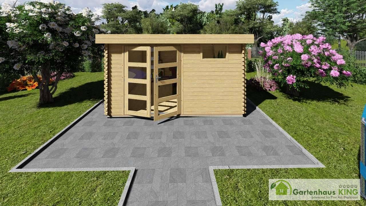 flachdach gartenhaus lappland 9 gartenhaus. Black Bedroom Furniture Sets. Home Design Ideas