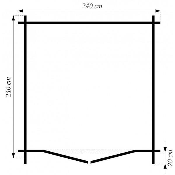 28 mm gartenhaus schweden 5 240 x 240 cm holz ger tehaus blockhaus schuppen ebay. Black Bedroom Furniture Sets. Home Design Ideas