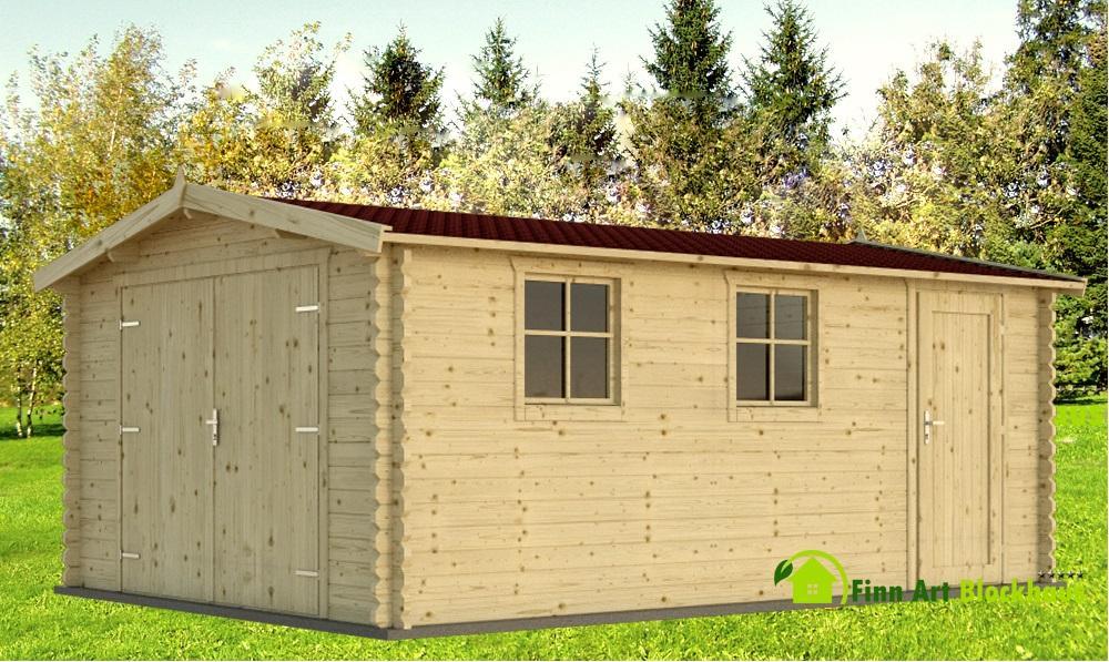 holzgarage schweden 41 gartenhaus. Black Bedroom Furniture Sets. Home Design Ideas