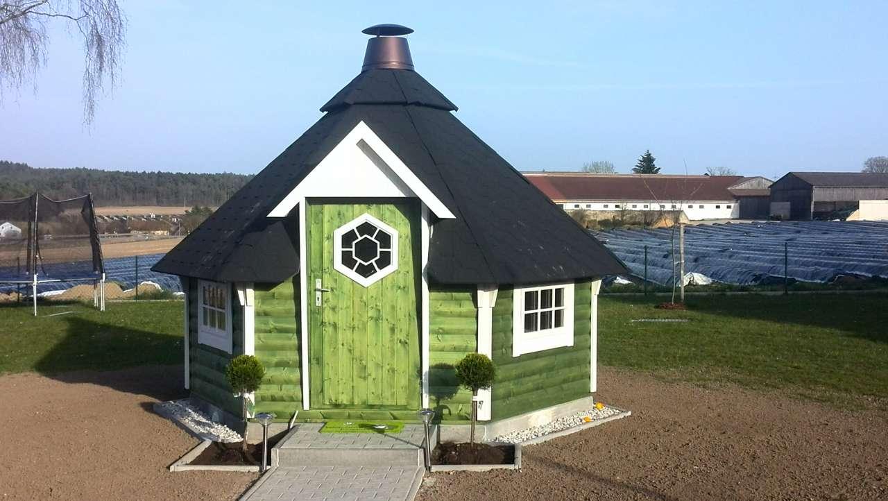 grillkota finnland 7 m inkl grillanlage 6 eckig gartenhaus. Black Bedroom Furniture Sets. Home Design Ideas