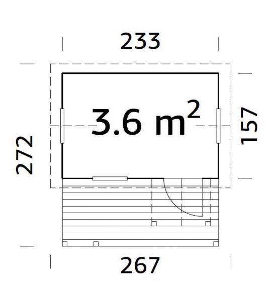 Palmako Kinderspielhaus Otto 3,6 m²
