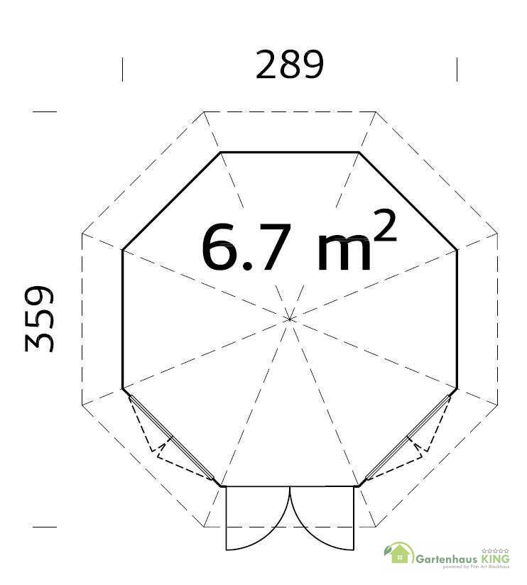 palmako pavillon veronica 2 6 7 m gartenhaus. Black Bedroom Furniture Sets. Home Design Ideas