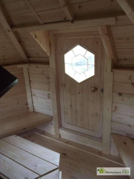 Finn Art Grillkota Elegance 16,5 m² mit Anbau Tür innen