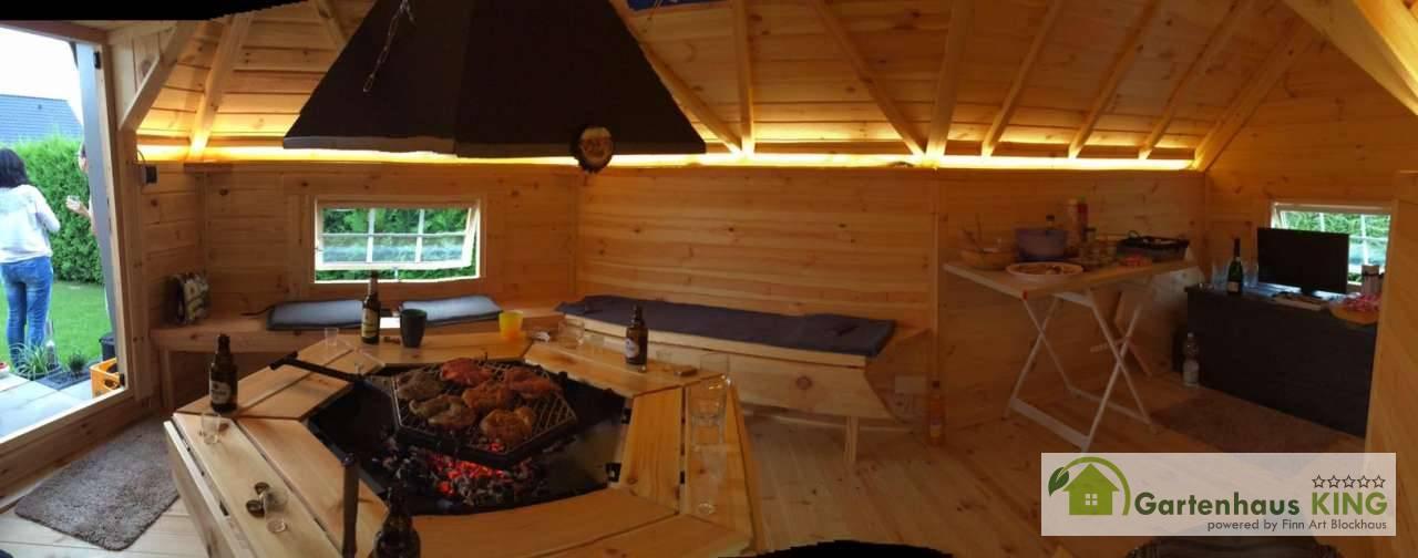 finn art grillkota elegance 9 2 m mit anbau inklusive grillanlage grillh tte. Black Bedroom Furniture Sets. Home Design Ideas
