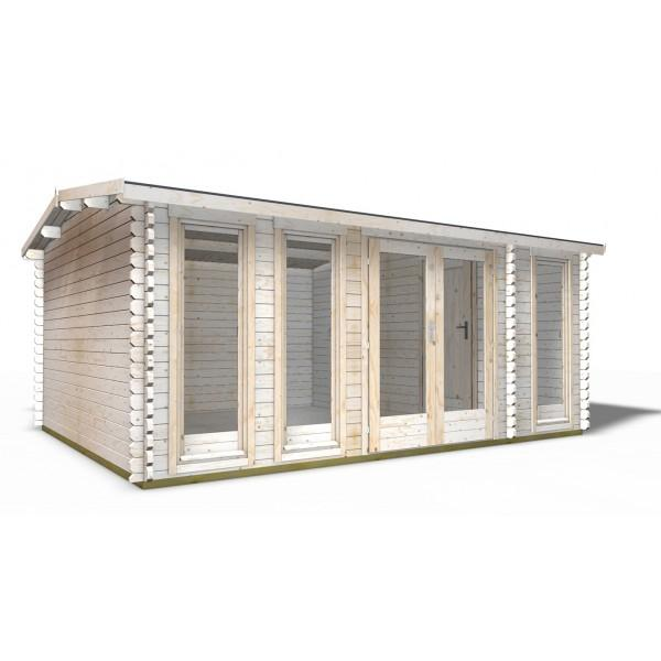 40 mm gartenhaus york 19 510 x 390 holz ger tehaus blockhaus schuppen modern ebay. Black Bedroom Furniture Sets. Home Design Ideas