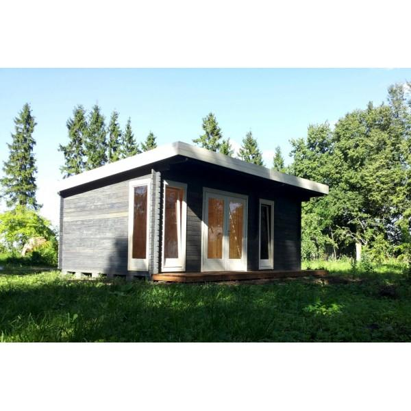 40 mm gartenhaus york 24 580 x 390 holz ger tehaus blockhaus schuppen pultdach ebay. Black Bedroom Furniture Sets. Home Design Ideas