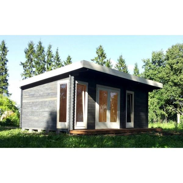 40 mm gartenhaus york 23 580 x 390 holz ger tehaus blockhaus schuppen pultdach ebay. Black Bedroom Furniture Sets. Home Design Ideas