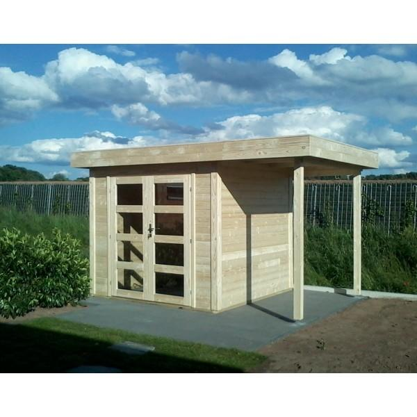 gartenhaus 28 mm sydney 5 240 x 240 holz schuppen flachdach pultdach blockhaus ebay. Black Bedroom Furniture Sets. Home Design Ideas