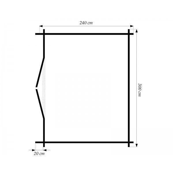 28 mm gartenhaus schweden 7 298 x 240 cm holz ger tehaus blockhaus schuppen ebay. Black Bedroom Furniture Sets. Home Design Ideas