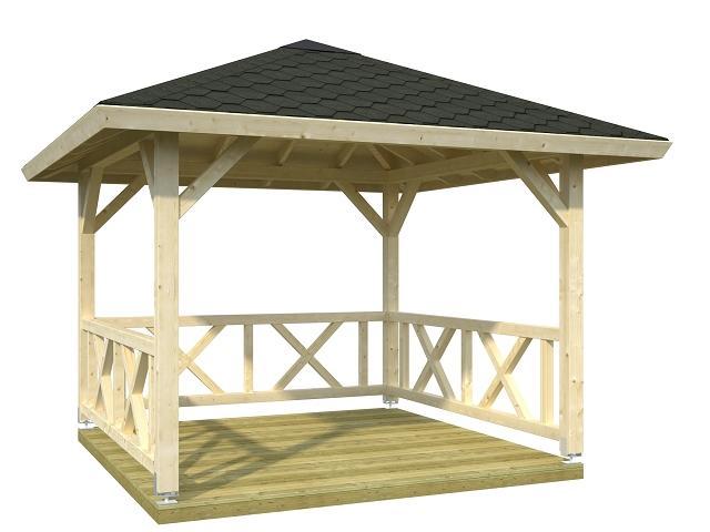 palmako pavillon betty 9 0 m gartenhaus. Black Bedroom Furniture Sets. Home Design Ideas