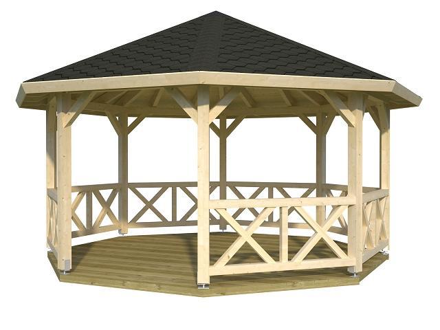 palmako pavillon betty 18 0 m gartenhaus. Black Bedroom Furniture Sets. Home Design Ideas