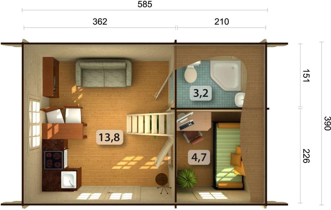 palmako ferienhaus sandra 29 9 m gartenhaus. Black Bedroom Furniture Sets. Home Design Ideas