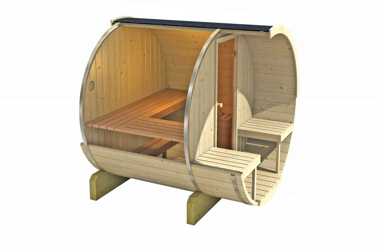 fasssauna alvi 1 bausatz saunafass saunahaus au ensauna gartensauna von finn art ebay. Black Bedroom Furniture Sets. Home Design Ideas