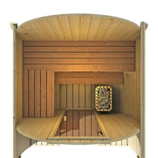 Finn Art Fass-Sauna Alvi 7 Thermoholz