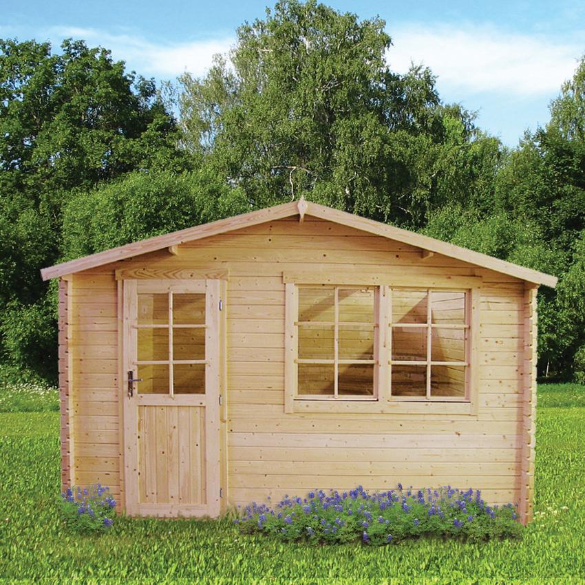 28 mm gartenhaus schweden 23 390 x 390 cm holz ger tehaus blockhaus schuppen. Black Bedroom Furniture Sets. Home Design Ideas