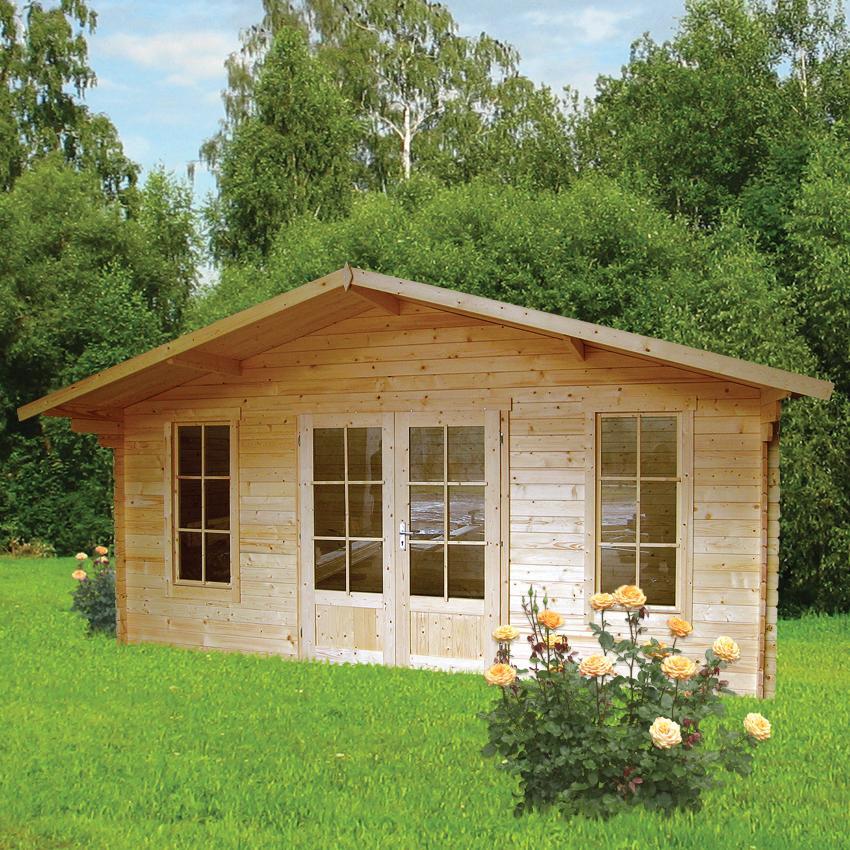 Gartenhaus friesenblau  Gartenhaus Schweden 27 - Gartenhaus-King.de