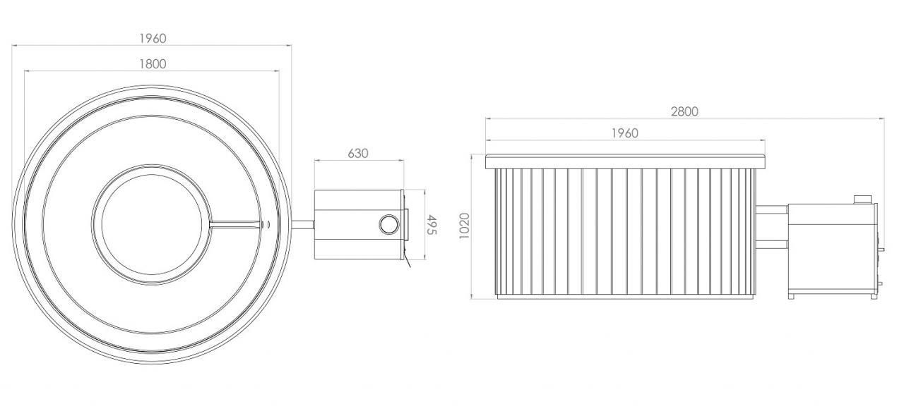 badebottich 180 exklusiv au enofen fichte granit. Black Bedroom Furniture Sets. Home Design Ideas