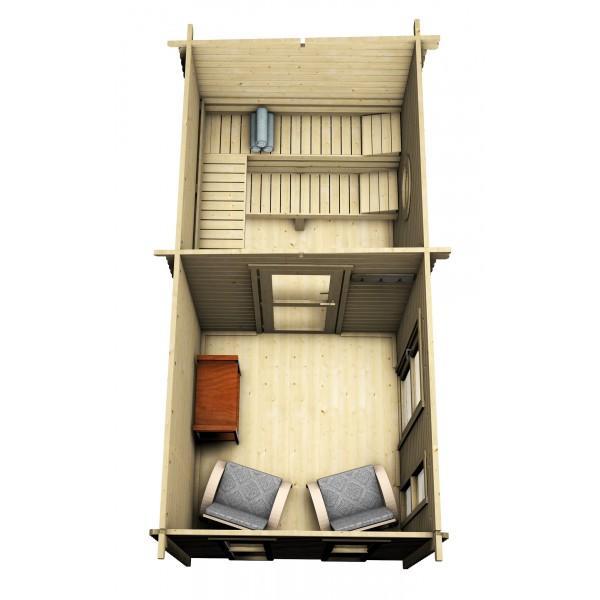 flachdach saunahaus trontheim 3 gartenhaus. Black Bedroom Furniture Sets. Home Design Ideas