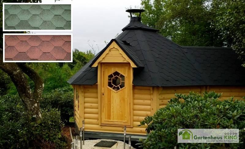 grillkota elegance 9 2 m mit saunaanbau 6 eckig gartenhaus. Black Bedroom Furniture Sets. Home Design Ideas