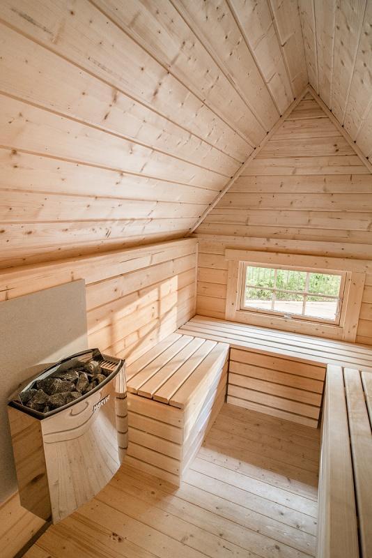finnische grillkota elegance 9 2 mit saunaanbau gartenhaus. Black Bedroom Furniture Sets. Home Design Ideas