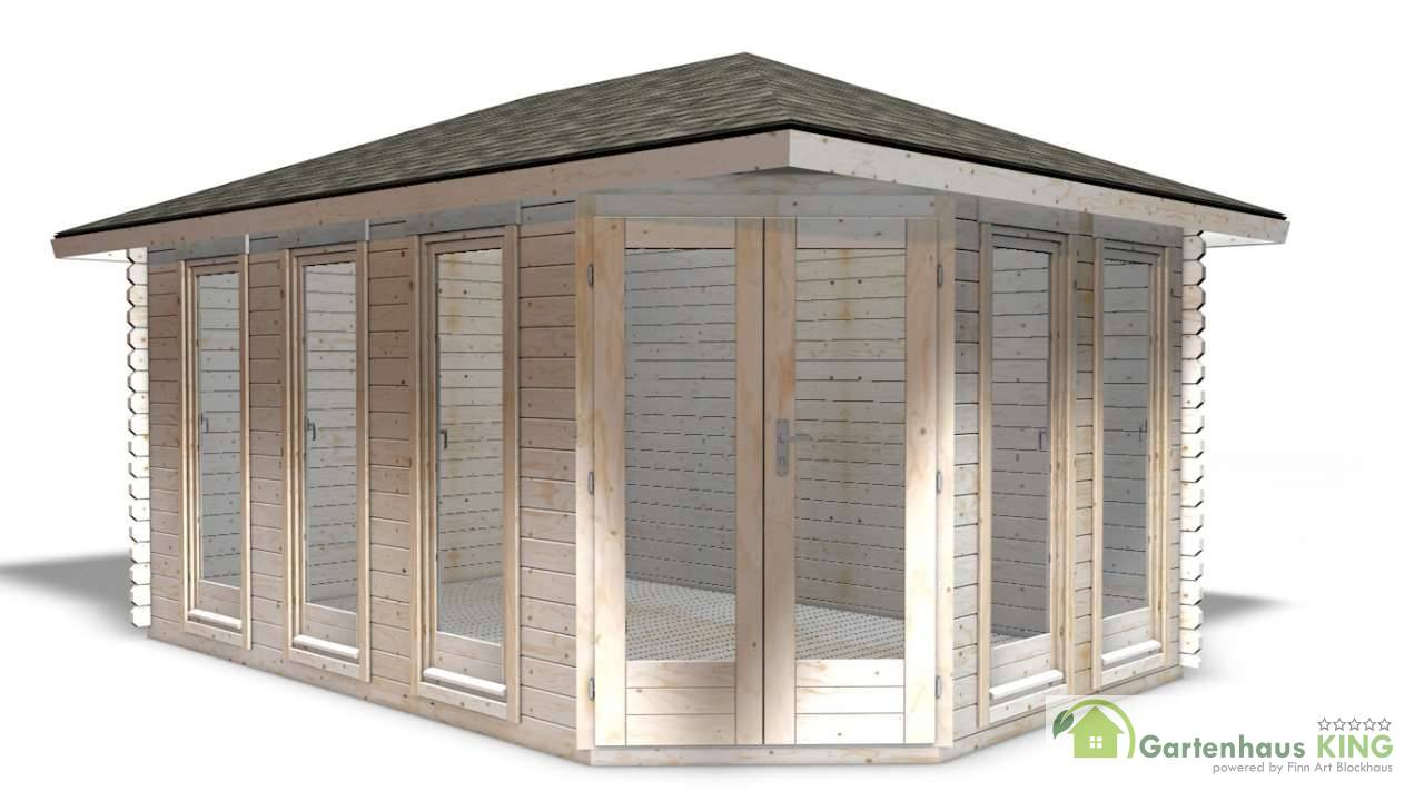 40 mm 5 eck gartenhaus york 4 450 x 300 holz ger tehaus blockhaus schuppen ebay. Black Bedroom Furniture Sets. Home Design Ideas