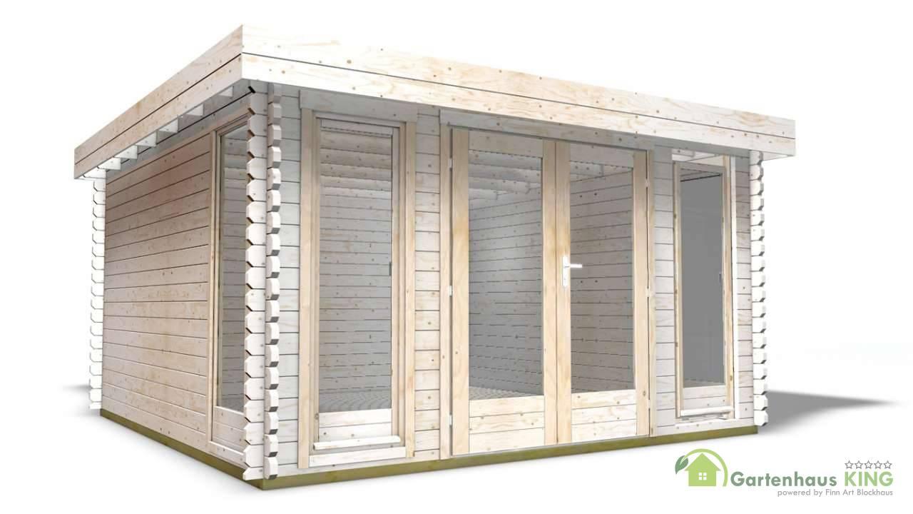40 mm gartenhaus york 6 390 x 390 holz ger tehaus blockhaus schuppen pultdach ebay. Black Bedroom Furniture Sets. Home Design Ideas