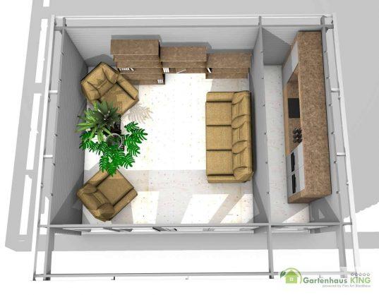 Gartenhaus York 16 - 40209 3D