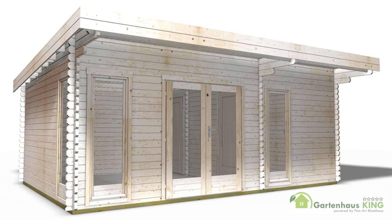 40 mm gartenhaus york 24 580 x 390 holz ger tehaus blockhaus schuppen pultdach. Black Bedroom Furniture Sets. Home Design Ideas