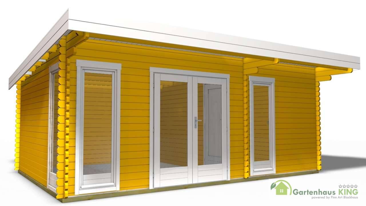 40 mm gartenhaus york 23 580 x 390 holz ger tehaus blockhaus schuppen pultdach ebay. Black Bedroom Furniture Sets. Home Design Ideas