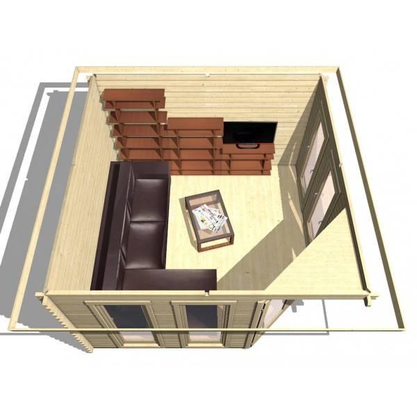 40 mm 5 eck gartenhaus york 2 360 x 360 holz ger tehaus blockhaus schuppen ebay. Black Bedroom Furniture Sets. Home Design Ideas