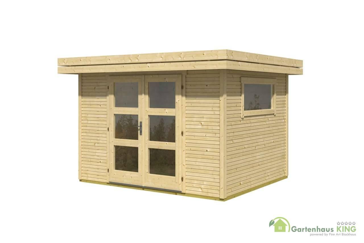 flachdach gartenhaus lasita maja faro 1 gartenhaus. Black Bedroom Furniture Sets. Home Design Ideas