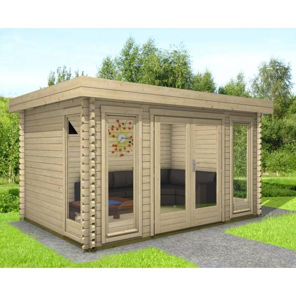 40 mm gartenhaus york 8 390 x 300 holz ger tehaus blockhaus schuppen pultdach ebay. Black Bedroom Furniture Sets. Home Design Ideas