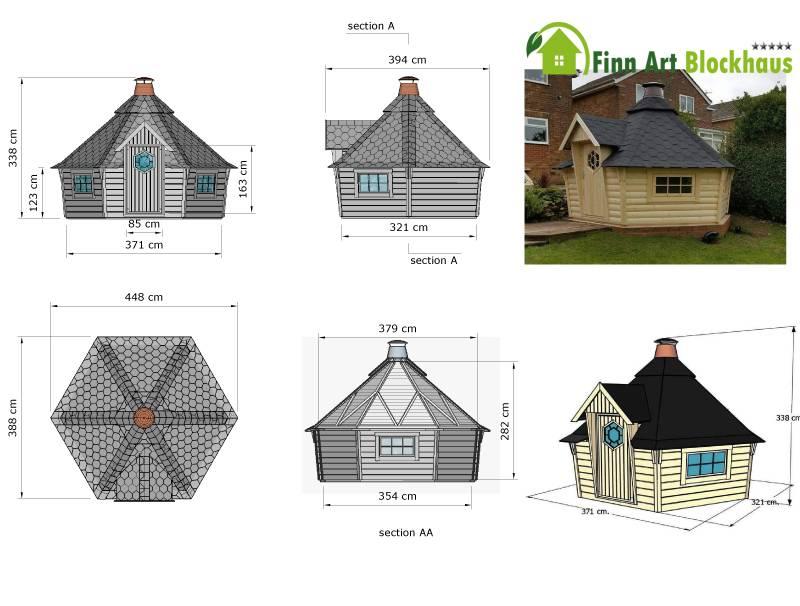 gartenpavillon holz zeichnung. Black Bedroom Furniture Sets. Home Design Ideas