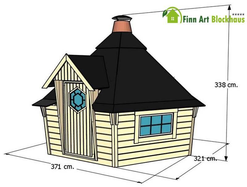 Gartenpavillon holz zeichnung - Gartenhaus king ...