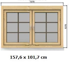Doppelfenster 157 x 102 cm Modell D ISO
