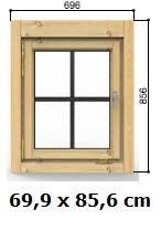 Fenster 69 x 85 cm Modell C ISO