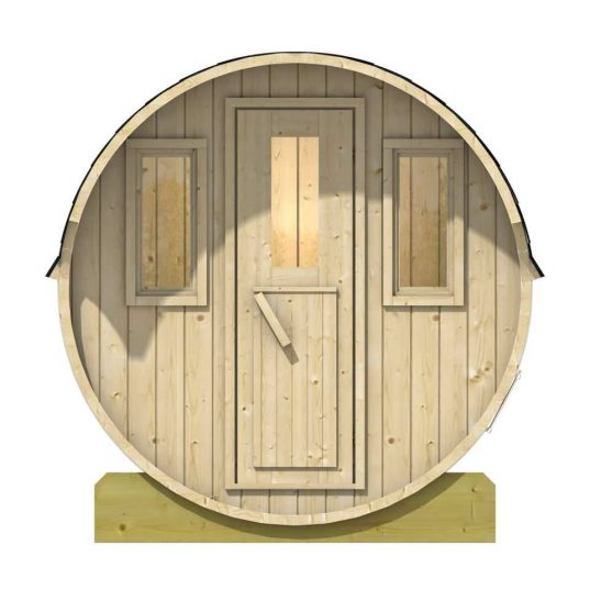 saunafass mit Fenstern
