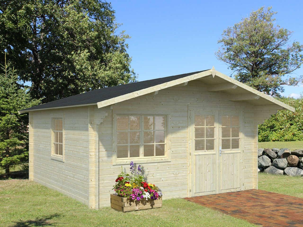 palmako gartenhaus britta 17 5 m gartenhaus. Black Bedroom Furniture Sets. Home Design Ideas