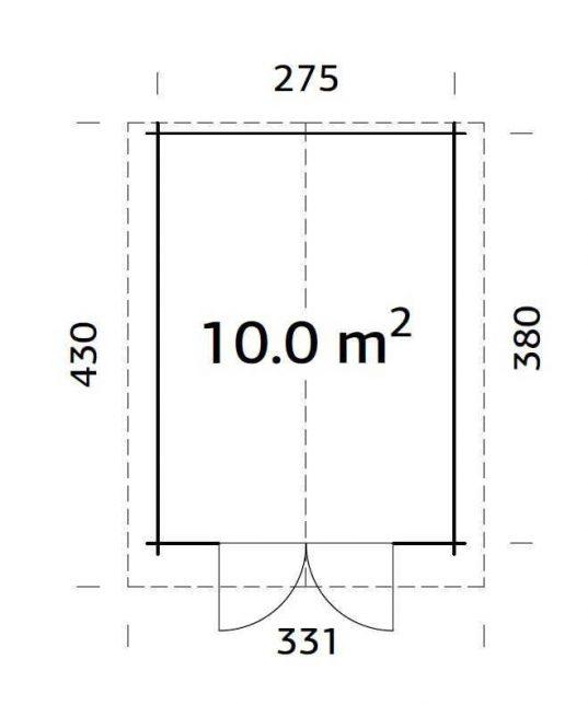 Palmako Gartenhaus Lotta 10,0 m²