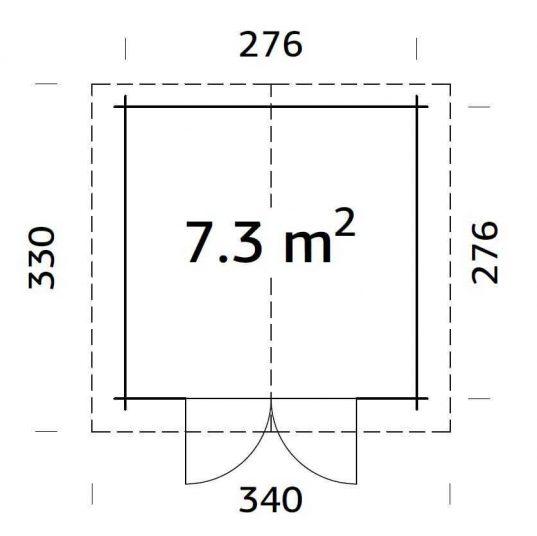 Palmako Gartenhaus Lotta 7,3 m²