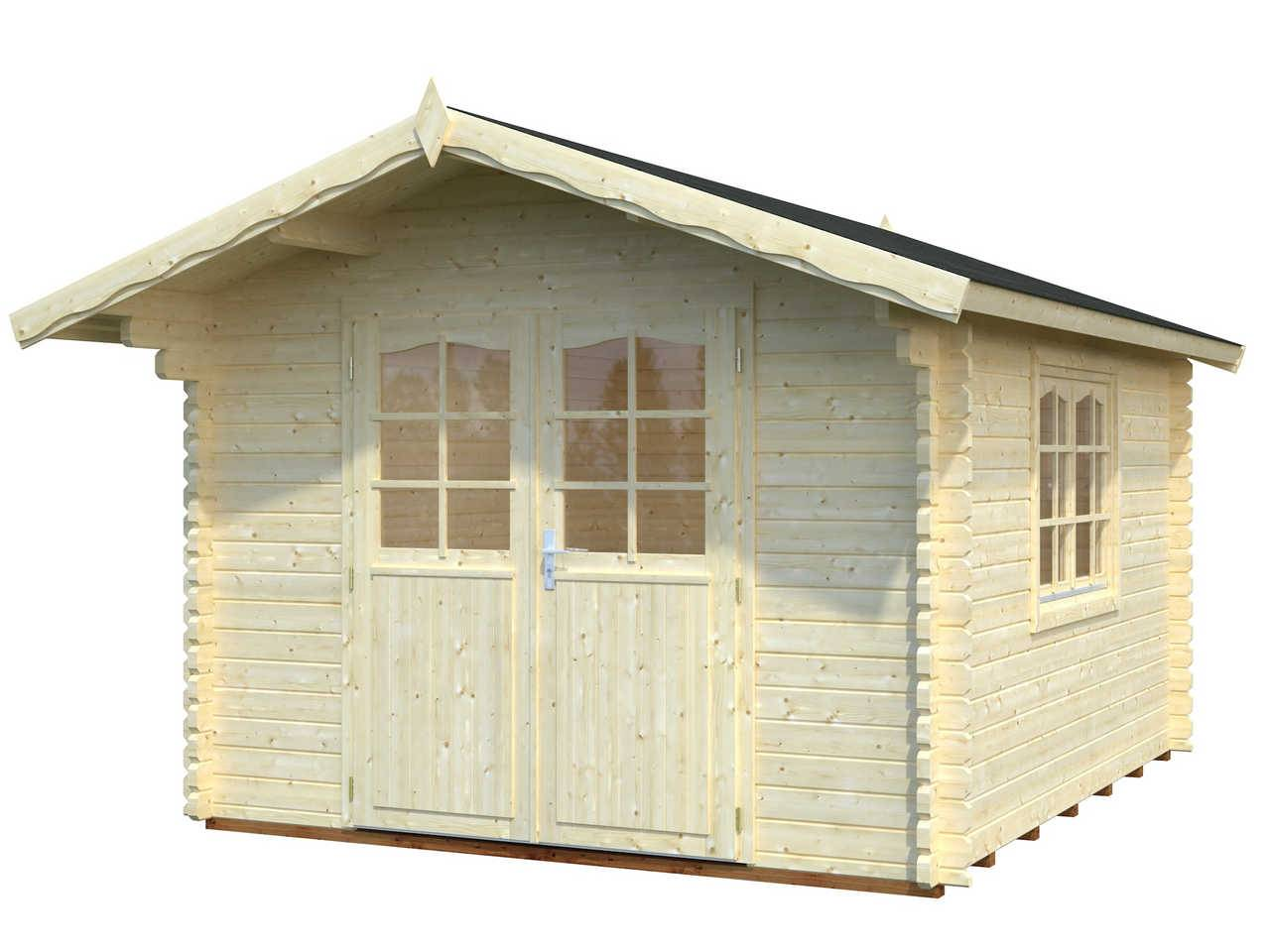 44 mm gartenhaus sally 10 2 m 320 x 380 palmako ger tehaus blockhaus holz ebay. Black Bedroom Furniture Sets. Home Design Ideas