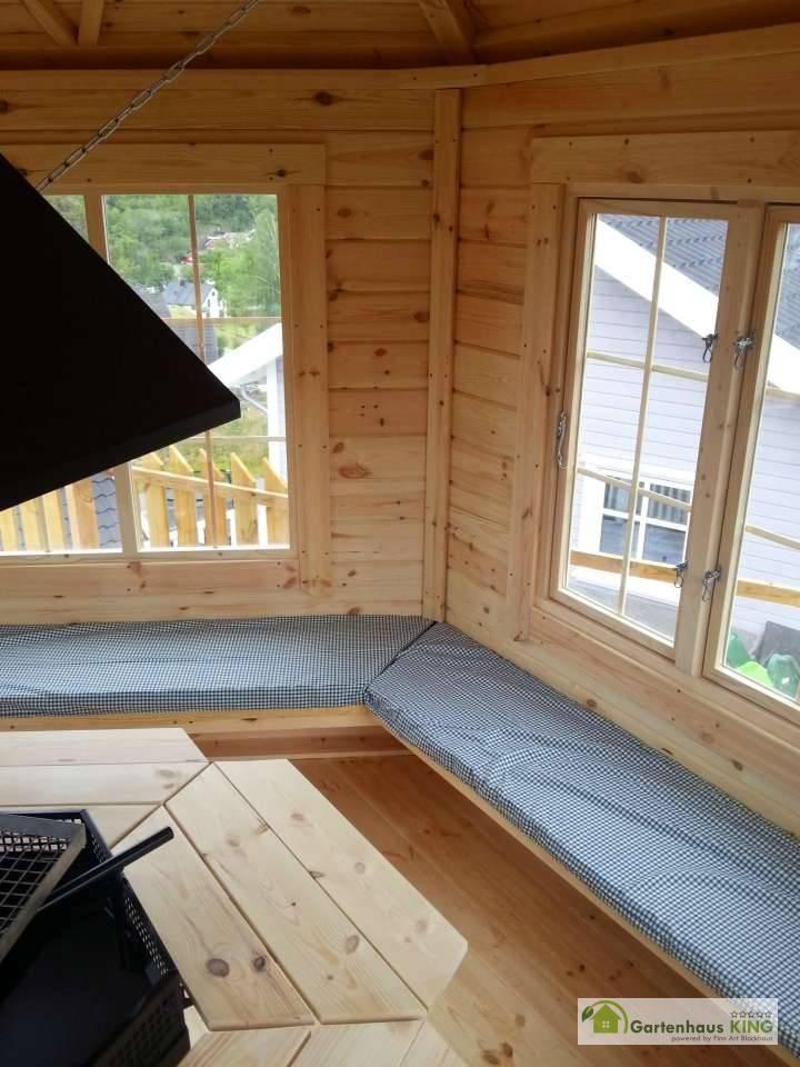 grillpavillon elegance 9 2 m 6 eckig gartenhaus. Black Bedroom Furniture Sets. Home Design Ideas