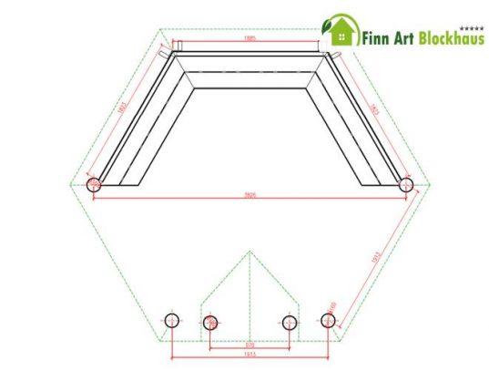 Finn Art Grillkota Elegance 9,2 m² offen