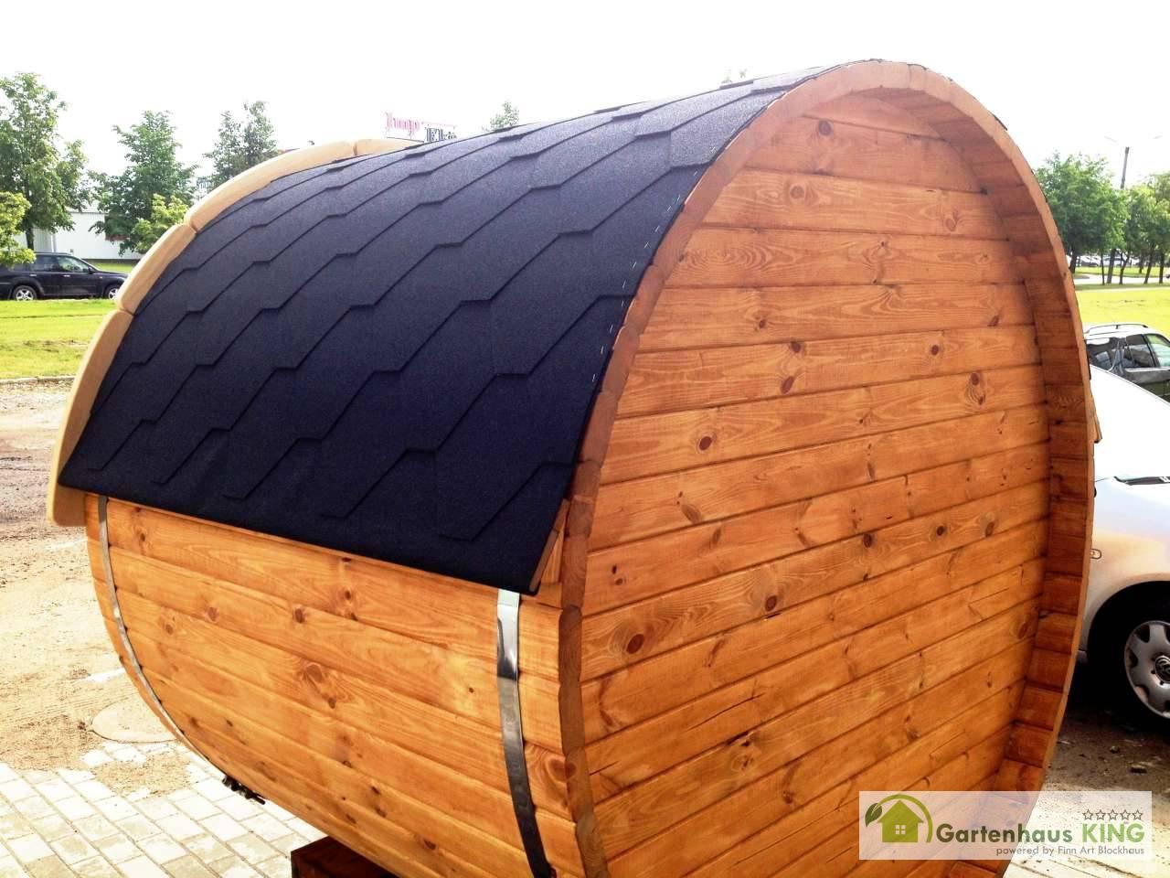 Finn Art Fass Sauna Premium 170 197 Thermoholz Gartenhaus King De