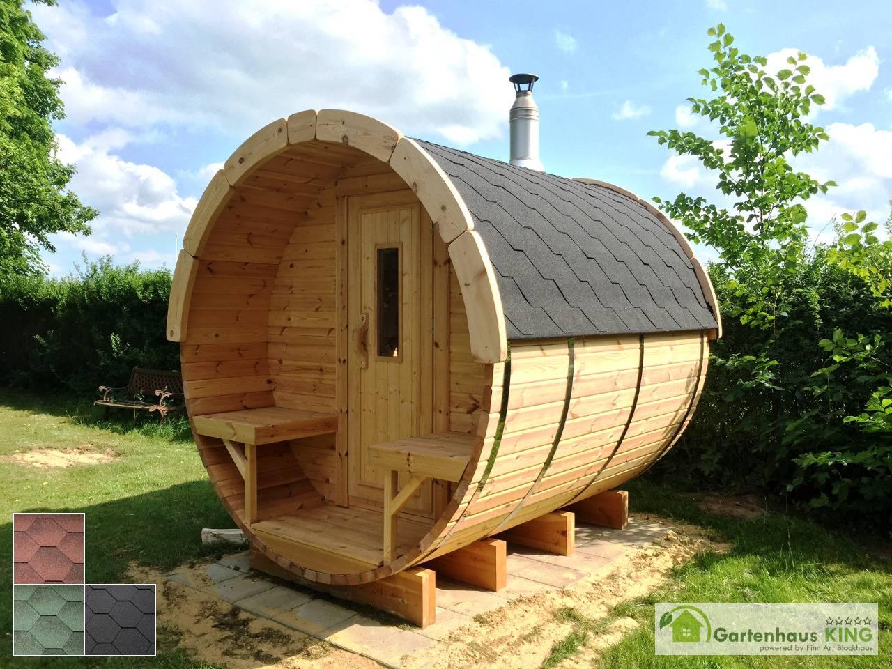 Finn Art Fass Sauna Premium 240/227 Thermoholz   Gartenhaus King.de