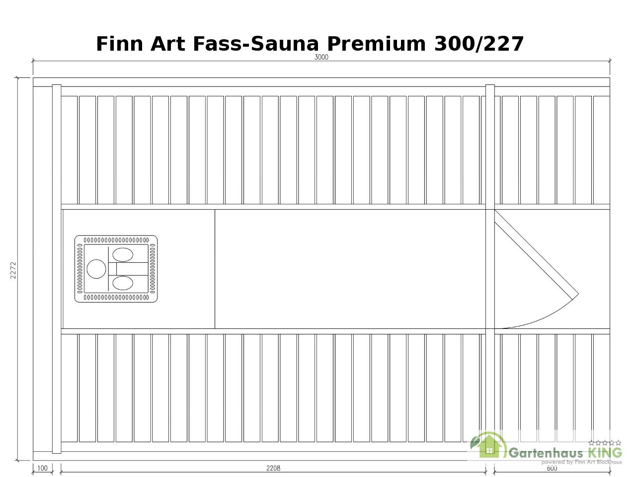 finn art fass sauna premium 300 227 thermoholz gartenhaus. Black Bedroom Furniture Sets. Home Design Ideas