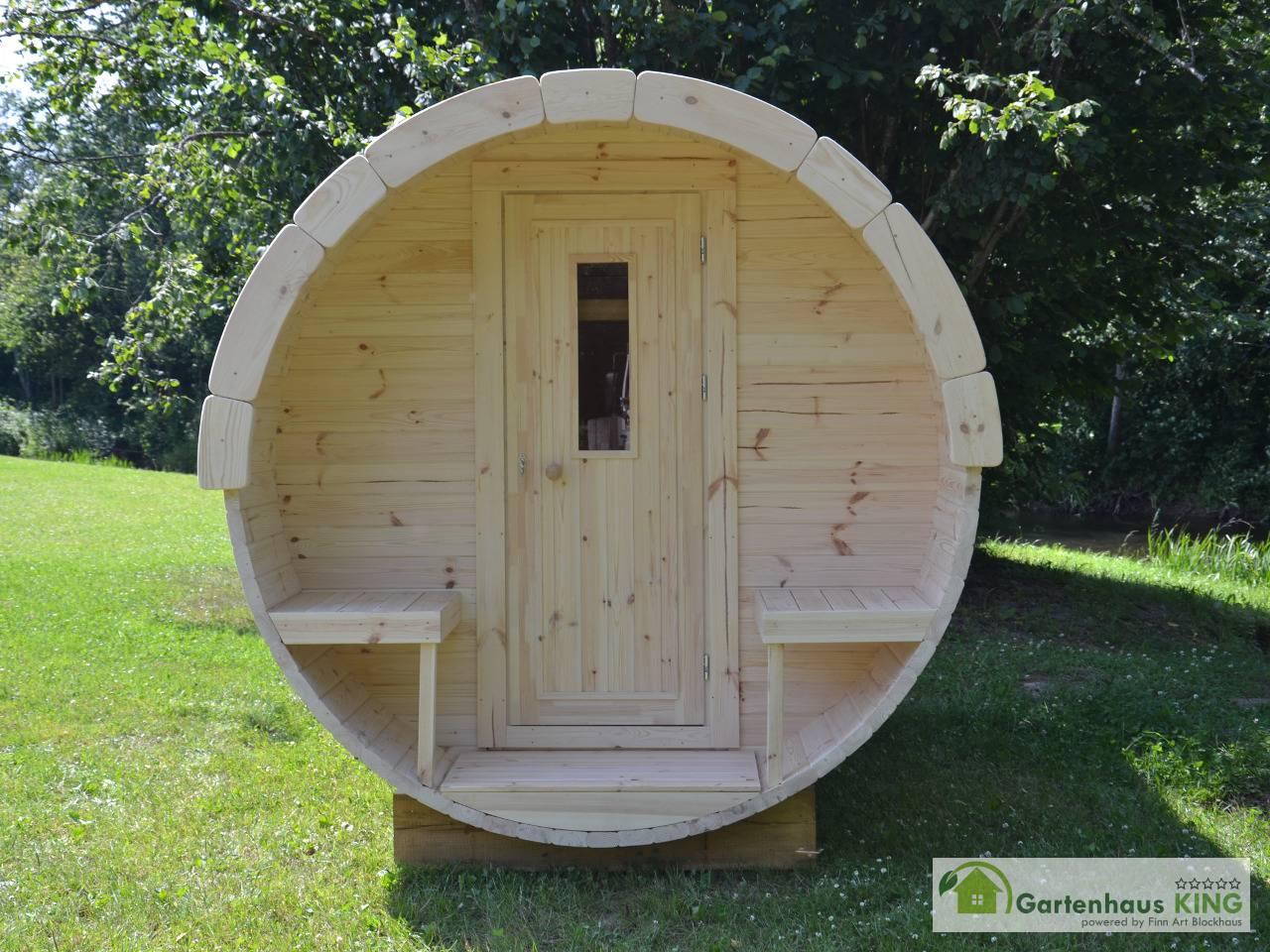 Finn Art Fass Sauna Premium 300 197 Thermoholz Gartenhaus King De